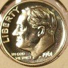 1961 GEM Proof Silver Roosevelt Dime Full Bands #145
