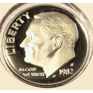 1982-S Proof Roosevelt Dime DCAM PF65 #185