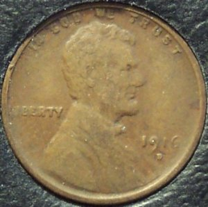 1916-D Lincoln Wheat Back Penny FINE #216