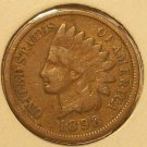 1898 Indian Head Cent Partial Liberty VG #246