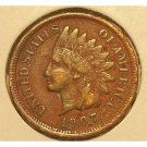 1907 Indian Head Penny F12 FULL LIBERTY #278