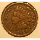 1899 Indian Head Penny Partial Liberty VG #287
