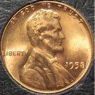 1958 Lincoln Wheat Cent Gem BU MS65R #354