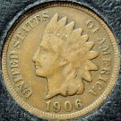 1906 Indian Head Cent VG PARTIAL LIBERTY #0254