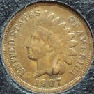 1907 Indian Head Penny Partial Liberty VG #518