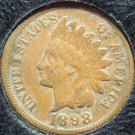 1898 Indian Head Penny Partial Liberty VG #727