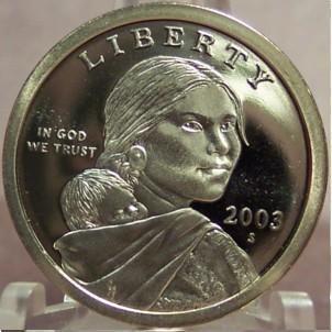 2003-S DCAM Proof Sacagawea Dollar PF65 #0272