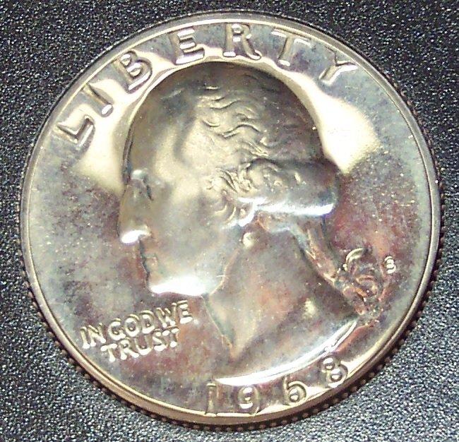 1968-S Proof Washington Quarter PF65 #308