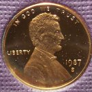 1987-S DCAM Proof Lincoln Penny PF65 #414