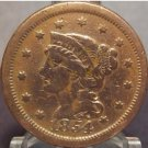 1854 Large Cent Braided Hair Very Fine FREE SHIPPING #861