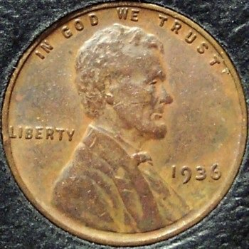 1936 Lincoln Wheat Penny EF #197