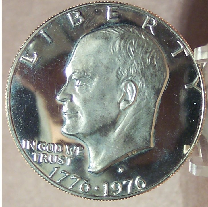 1976-S DCAM Clad Proof Eisenhower Dollar Var 1  PF65 #0279