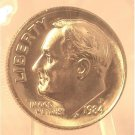 1984-P Roosevelt Dime MS65 Full Bands In the Cello #393