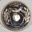 1999-S Clad Proof Georgia State Quarter PF65DC #417