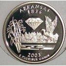 2003-S Clad Proof Arkansas State Quarter PF65DC #421
