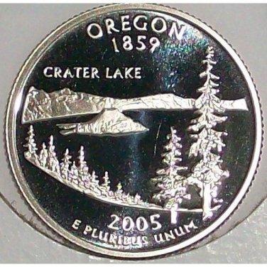 2005-S Clad Proof Oregon State Quarter PF65DC #423