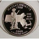 2000-S Clad Proof Massachusetts State Quarter PF65DC #426