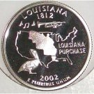 2002-S Clad Proof Louisanna State Quarter PF65DC #428