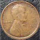 1909 Lincoln Wheat Penny Fine Details #0529