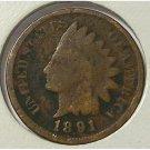1891 Indian Head Cent AG #545