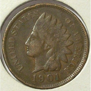 1901 Indian Head Cent Partial Liberty VG10 #548