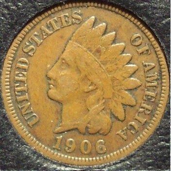 1906 Indian Head Cent F12 FULL LIBERTY #621