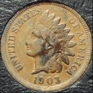1903 Indian Head Penny Partial Liberty VG #0735