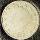 "1908 Liberty ""V"" Nickel G4 #0802"