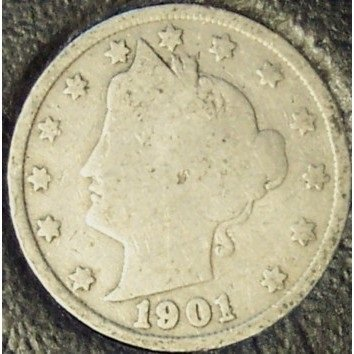 "1901 Liberty ""V"" Nickel G4 #844"