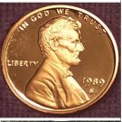 1989-S DCAM Proof Lincoln Penny PF65 #880