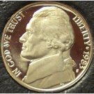 1983-S Deep Cameo Proof Jefferson Nickel #0912