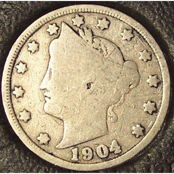 "1904 Liberty ""V"" Nickel G4 #961"