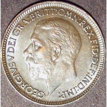 1933 UK George V Farthing AU #987