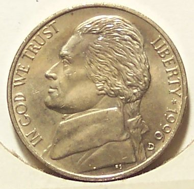 1996-D Jefferson Nickel BU FULL STEPS #0360