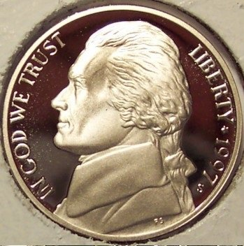 1997-S DCAM PROOF Jefferson Nickel PF65 #490