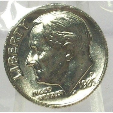 1985-P Roosevelt Dime MS65 In the Cello #559