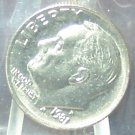 1981-P Roosevelt Dime MS65FB In the Cello #589