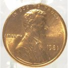 1981-P Lincoln Penny MS65 In the Cello #651