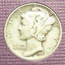 1941-S Mercury Silver Dime VF #176