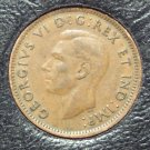 KM#32 1947 Canadian George VI Cent With Leaf XF #525
