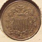 1867 Shield Nickel Var 2 (No Rays) Borderline EF FREE SHIPPING #536