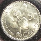 KM#264 1963 Guatemala Silver 50 Centavos UNC FREE SHIPPING (US) #637