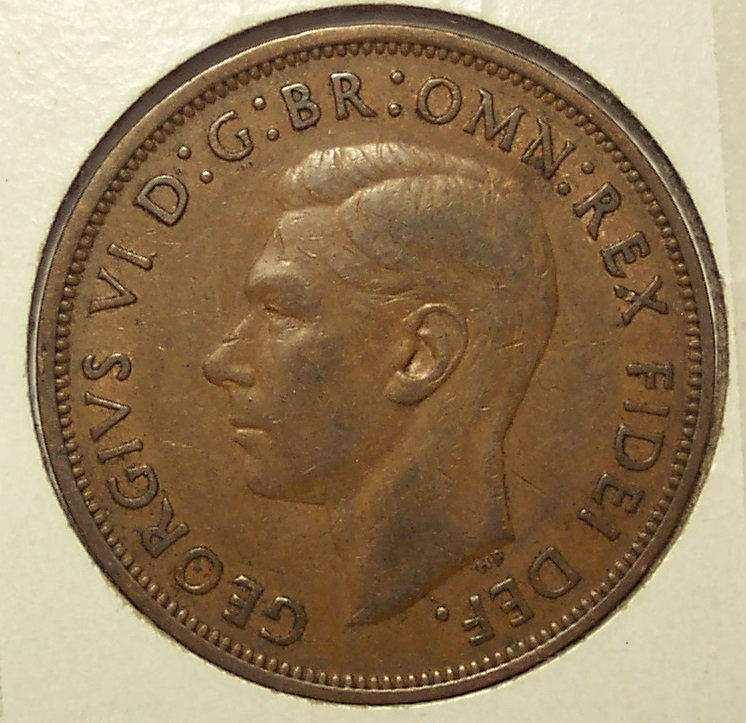KM#869 1949 UK George V Penny #115