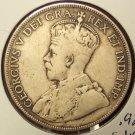 KM #12 1918-C King George V Silver Newfoundland Half Dollar #0855