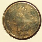 1904 Indian Head Cent VF FULL LIBERTY #166