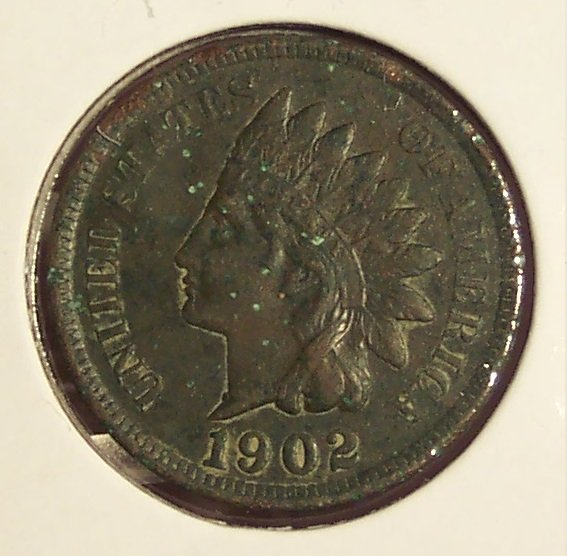1902 Indian Head Cent VF Details #0725