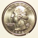 1992-D Washington Quarter BU #01022