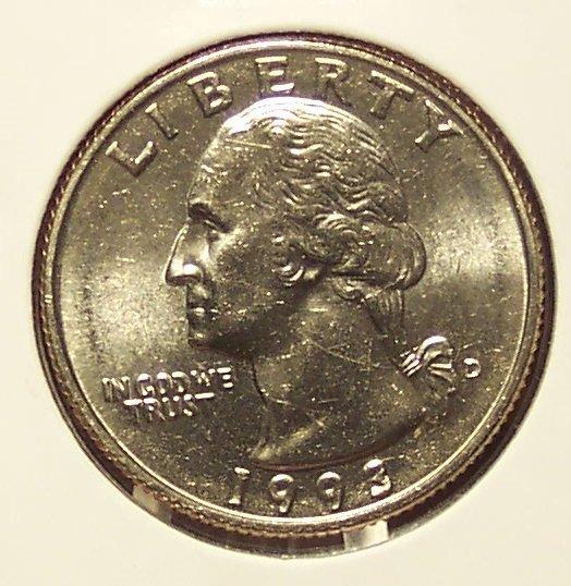 1993-D Washington Quarter BU #01023