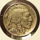1937 Buffalo Nickel Full Date VF #0002