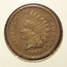 1863 Indian Head Cent VF #061